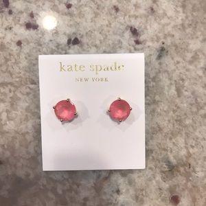 NWT Kate Spade New York Pink Gem Earrings